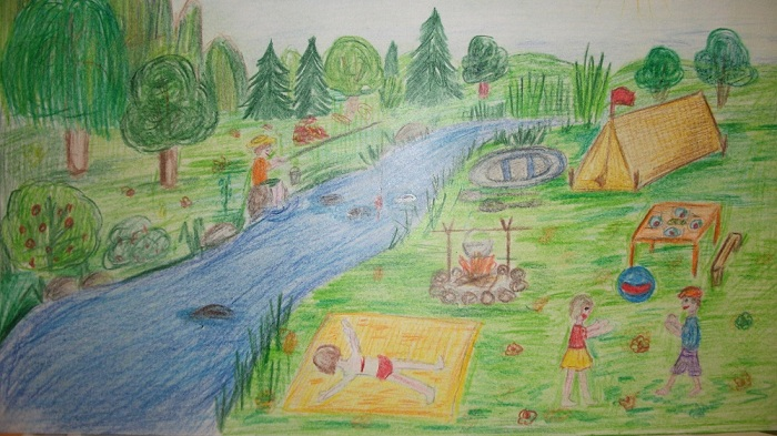 рисунки каникулы: