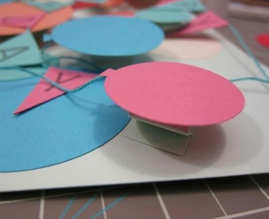 Объемные открытки своими руками шарики