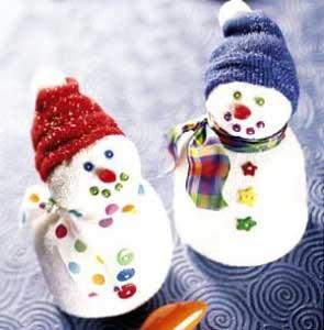 Новогодние поделки своими руками снеговик из носка